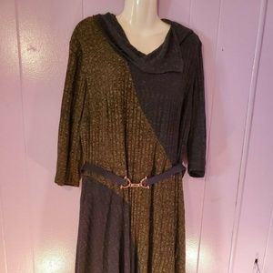 Signature by Robbie Bee Sweater Dress Green Blue 3